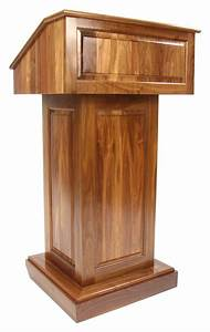 Solid Wood Podium Walnut Church Lectern
