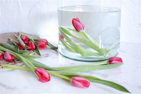 vase für tulpen diy unterwasser tulpen