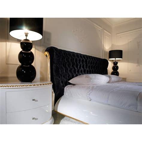 venezia high gloss white king size bed  black velvet