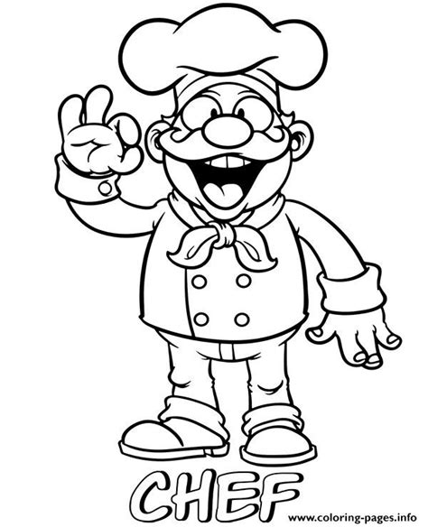 professions chef coloring pages printable