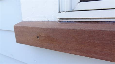 Replace Exterior Window Sill Nose by Mahogany Window Sill Repair Meticulous Remodeling