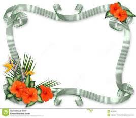 Tropical Flower Border Clip Art