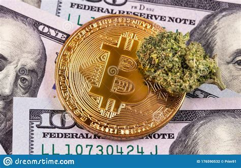 One of the most common types of payment options that almost all marijuana seed banks offer is through the use of bitcoin. Medical Marijuana Cannabis Bud And Bitcoin Dollars Banknotes Macro Stock Photo - Image of ...