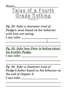 fourth grade judy blume and inference pinterest