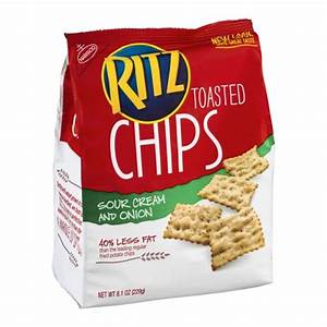 Nabisco Ritz Toasted Chips - Sour Cream & Onion 8.1 OZ ...