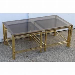 Table Basse Gigogne Verre : table basse gigogne en laiton poli et verre sur moinat sa ~ Teatrodelosmanantiales.com Idées de Décoration