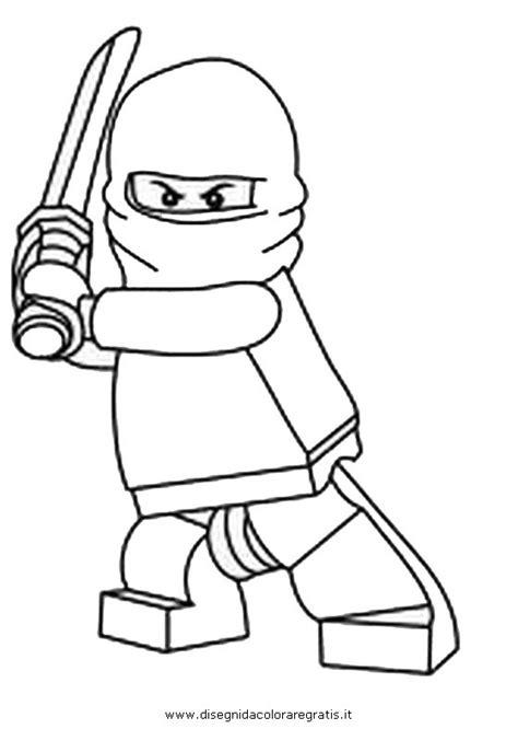 disegno ninjago  personaggio cartone animato da colorare