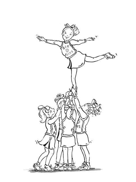 cheerleader coloring pages  printable cheerleader