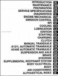 2001 Toyota Corolla Repair Shop Manual Original
