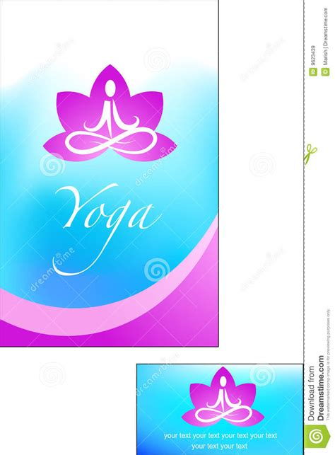 template  yoga brochure royalty  stock images