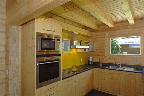 cuisine chalet bois nos réalisations de maisons ma maison bois