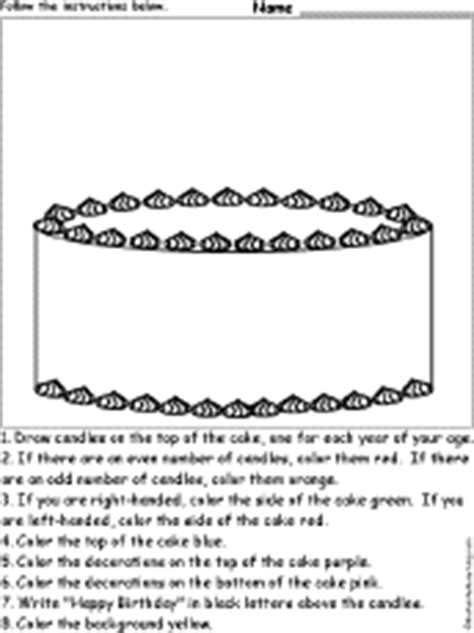 drawing  coloring worksheets birthday activities