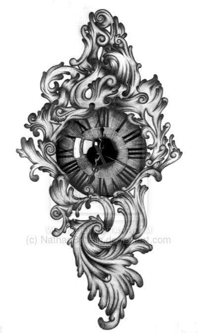 Traditional Clock Tattoo  Clockeye Tattoo Design By