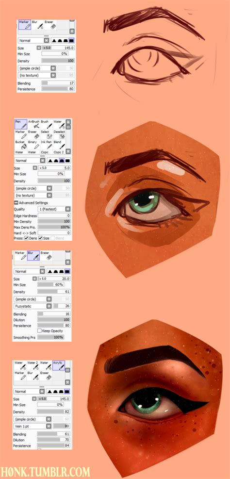 paint tool sai brush settings by vit4l paint tool sai