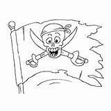 Coloring Pages Pirate Flag Pirates Printable Flags Ship Toddlers Games Cartoon Minion Coloringgames sketch template