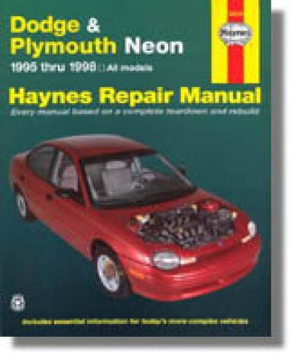 free online auto service manuals 1996 plymouth grand voyager electronic valve timing haynes dodge plymouth neon 1995 1999 auto repair manual