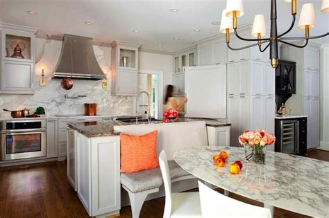 Island Booth Seating by Kitchen Island Banquette Contemporary Kitchen