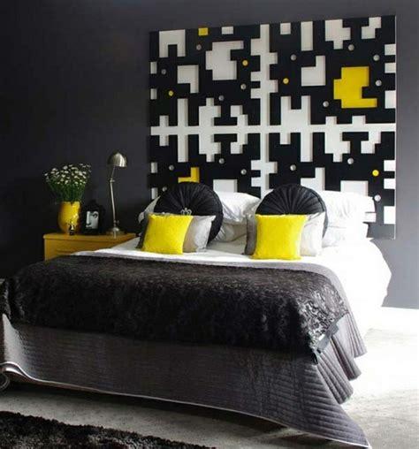 deco chambre noir deco chambre noir et jaune visuel 1