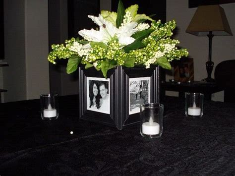 picture frame centerpieces home simplicity wedding