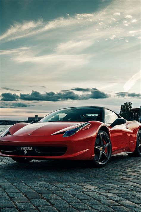 Red car, ferrari 488 gtb, vehicle, luxury vehicle, sports car. Download Ferrari iPhone Wallpaper for Free: 50 Wallpapers