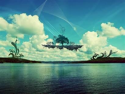 Floating Island Wallpapers Desktop Pc Islands Mind