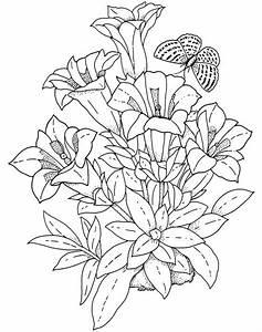 Desenho de Arranjo de flores para colorir - Tudodesenhos