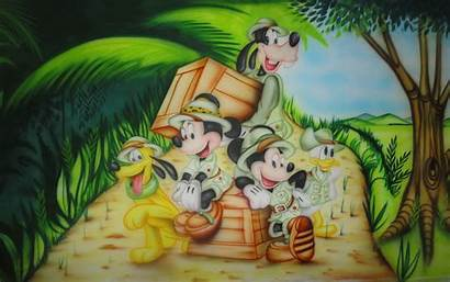 Mickey Safari Mouse Jungle Cartoon Donald Duck
