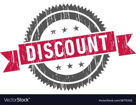 Discount stamp sign seal logo Royalty Free Vector Image