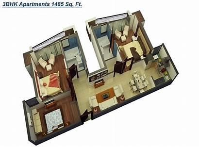 Vrindavan Sq Ft 1485 3bhk Apartments Chitvan