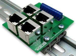 rj45 8p8c shielded modular breakout buss board with terminals winford engineering