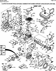 Diagram And  Or Partslist Tecumseh Hh100 115000c Parts List