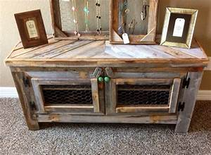 barn wood style tv stand reclaimed wood by restorationcrown With barn style tv console