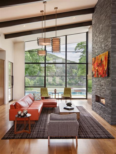 modern living room with fireplace tips on cleaning and maintaining a fireplace diy