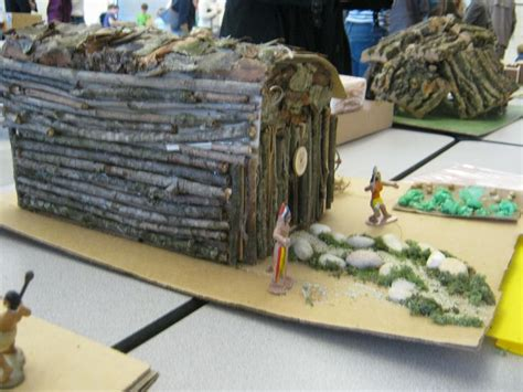 indian longhouse beccas school project twigs  glued