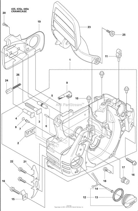 husqvarna    parts diagram  crankcase