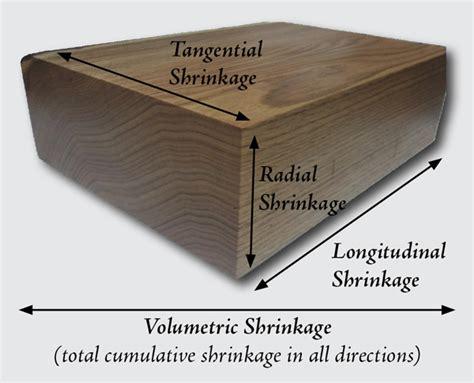 dimensional shrinkage  wood
