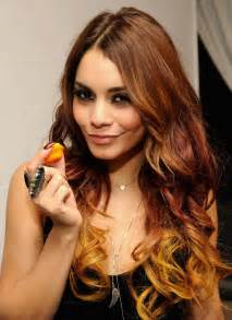 Pumpkin Spice Hair Dye by Vanessa Hudgens Hairstyles Celebrity Latest Hairstyles 2016