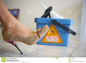 Caution wet floor stock photo image 21210050 for How to keep shoes from slipping on floor
