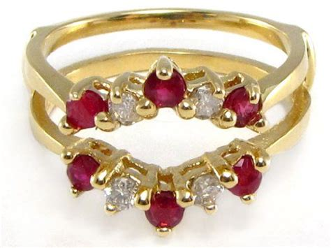 14k yellow gold ruby ring wrap guard insert enhancer 699 99 rings ruby