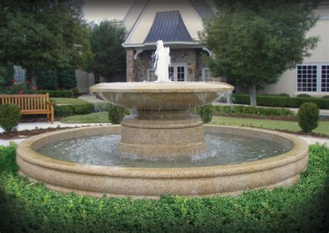large estate fountains traditional landscape