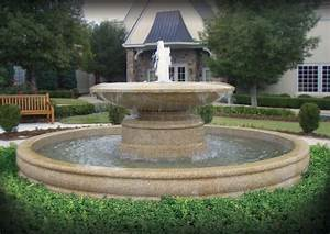 Large estate fountains traditional landscape little for Large outdoor fountains