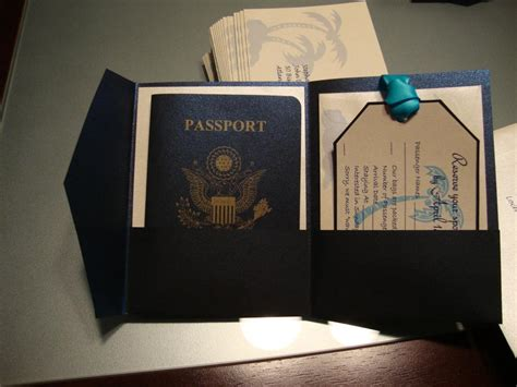 stephs diy passport invites pictures instructions