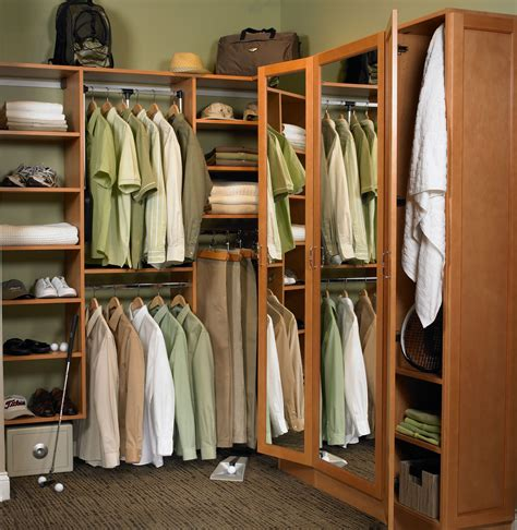 classic white wooden closet organizer with open shelves