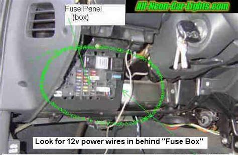 2000 Eclipse Fuse Box Relay N by How To Install Interior Car Lights Neon And Led