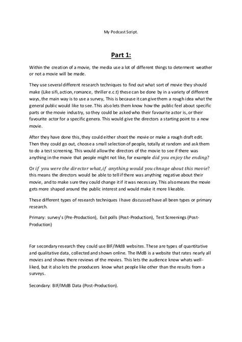 podcast script template my podcast script