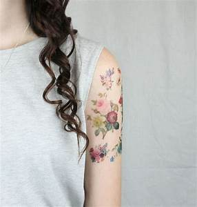 vintage flowers pack – 7 temporary tattoos – Etsy finds
