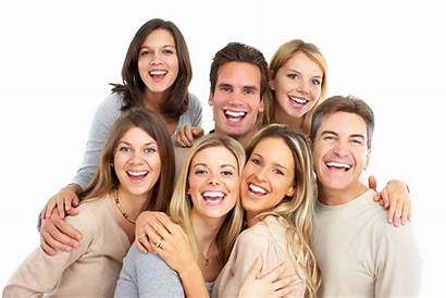 Friends Smiling Teeth Young Smile Whitening Spotlight