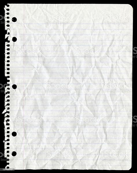sheet  paper torn  spiral notebook  crumpled stock photo  image  istock