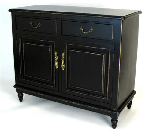 Black Sideboards And Buffets by Buffet Cabinet In Distressed Antique Black Modern