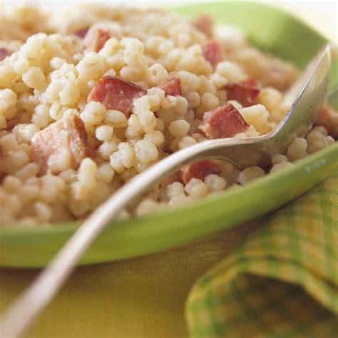 cuisine asiatique recette pilaf d 39 orge aux lardons ricardo